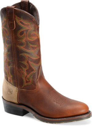 "Tobacco Double H Boot 13"" Domestic U Toe"