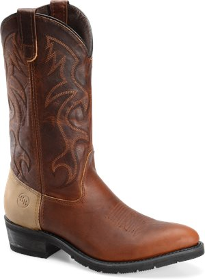 "Tobacco Double H Boot 13"" Domestic R Toe AG7"