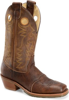 Bison Old Town Double H Boot 13 Inch Domestic Wide Square Toe Ice Buckaroo