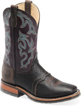 Light Brown/Plum Double H Boot 11 Inch Bison Roper