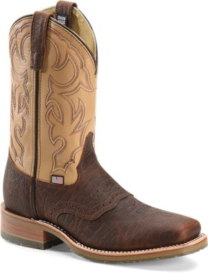 Briar/Echo Taupe Double H Boot 11 Inch Bison Roper