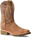 Double H Boot 11 inch Domestic Wide Square Toe Roper in Light Brown