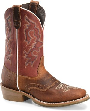 Coppertone Burgundy  Double H Boot 11 Inch Domestic Wide Square Toe Work Western