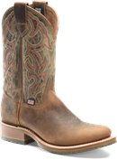 Double H Boot Mens 11 Inch Domestic U Toe Roper in Oldtown/White Onyx