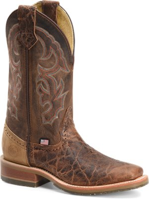 Light Brown Double H Boot Mens 12 In Wide Square Stockman