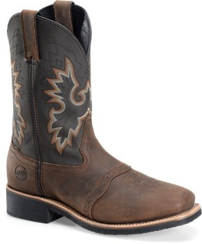 Tan Crazy Horse Double H Boot 11 Inch Wide Square Safety Toe Roper