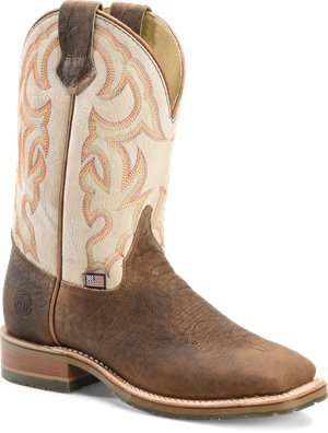 Light Brown White Double H Boot Dallas