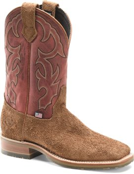 Red  Brown Double H Boot Odessa