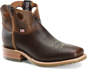 Peanut Bison Double H Boot Simon - Steel Toe Wide Square Shortie