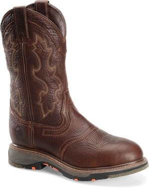 Briar Double H Boot 12 Inch Workflex U Toe Roper