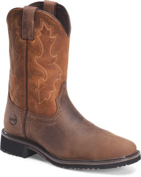 Brown Butterscotch Double H Boot 11 Inch Wide Square Comp Toe Roper