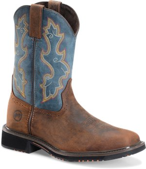 Dark Brown Royal Double H Boot 11 Wide Square Comp Toe Roper