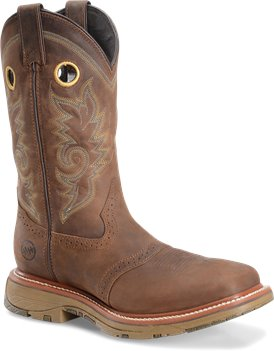 Coppertone Double H Boot 11 Domestic Wide Square Toe Work Western