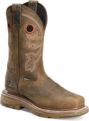 Light Brown Double H Boot 12  WorkFlex Waterproof Composite Wide Square Toe Roper