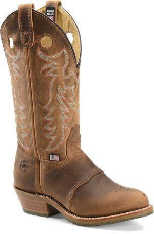 Medium/Brown Double H Boot 12 Inch UltraGel Buckaroo