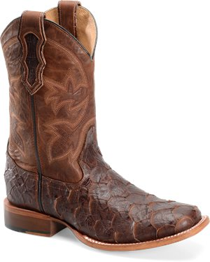 Whiskey Sea Bass Double H Boot 11 Inch Cattle Baron Wide Square Toe Roper