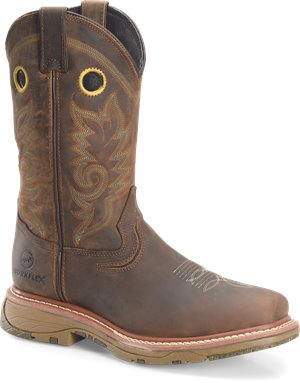"Light Brown Double H Boot 13"" Workflex MAX Wide Square Comp Toe Work"