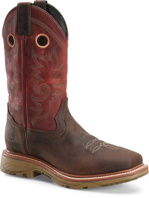 "Light Brown Double H Boot 13"" Buster Classic"