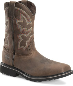 Light Brown Double H Boot Mens 10 Inch Comp Toe Wide Square Toe Roper