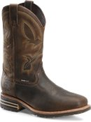 Double H Boot Mens 12 Inch Waterproof Insulated Comp Toe Wide Square Roper in Light Brown