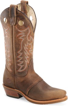 Tan Double H Boot 12 Inch Domestic Narrow Square Toe Ice Buckaroo