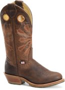 Light Brown Double H Boot Womens 12 inch R Toe Work Western