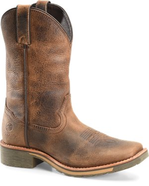 Buffalo Jungle Leather Double H Boot Adrian 11 Inch Maxflex Wide Square Toe Roper