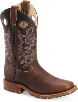 Mahogany Double H Boot 11 Inch Domestic Square ST ICE Roper