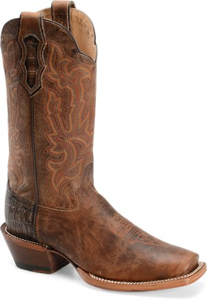 Brown Double H Boot 13 Inch Cattle Baron Wide Square Toe Buckaroo