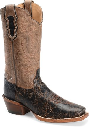 Black Miel Double H Boot 13 Inch Cattle Baron Wide Square Toe Buckaroo