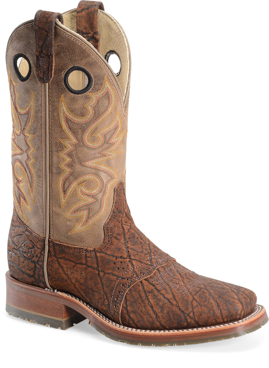 Double H Boot 11 Quot Wide Square Roper In Cognac Sueded
