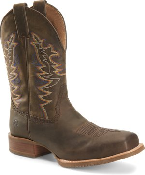Brown Double H Boot Mens 11 inch Wide Square Toe Roper