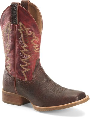 Medium Brown Double H Boot Mens 12 inch Wide Square Toe Roper