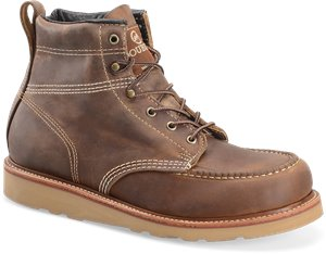 Oldtown Folklore Double H Boot 6 Inch Steel Toe Moc Toe Lacer