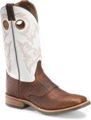 Double H Boot Marty - 12 Inch Mens Wide Square Toe  in Cognac Grain