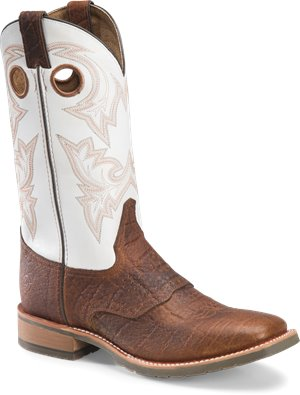 Cognac Grain Double H Boot Marty - 12 Inch Mens Wide Square Toe