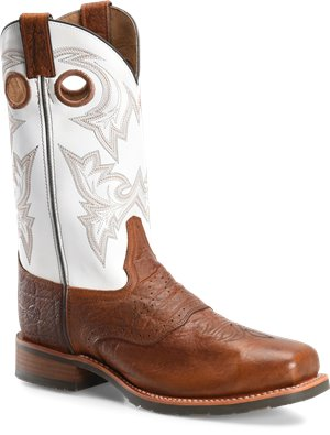 Cognac Exotic Print  Double H Boot Marty