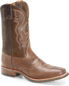 Old Town/Beige Double H Boot Noah - 11 Inch Wide Square Roper