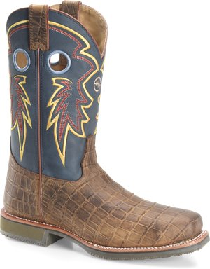 Cayman Print Double H Boot Tyler 12 In Mens Wide Square