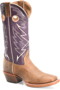 Medium Brown Purple Double H Boot Odell