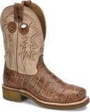 Camel Cayman  Double H Boot Womens 10 Inch Steel Toe Square Toe Roper