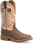 Double H Boot Mens 12 inch Wide Square Toe Roper in Medium Brown