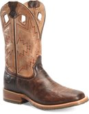 Double H Boot Mens 11 Inch Wide Square Toe Roper in Medium Brown