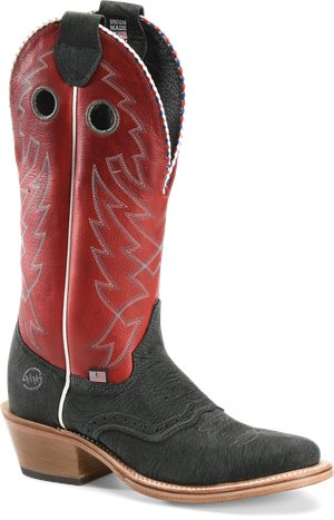 Red Denim Double H Boot Aaden