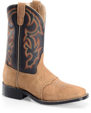 Sesame Bison Double H Boot 11 Inch Wide Square Toe Roper
