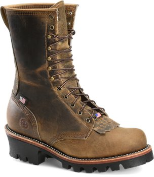 Brown Double H Boot 10  Inch Logger