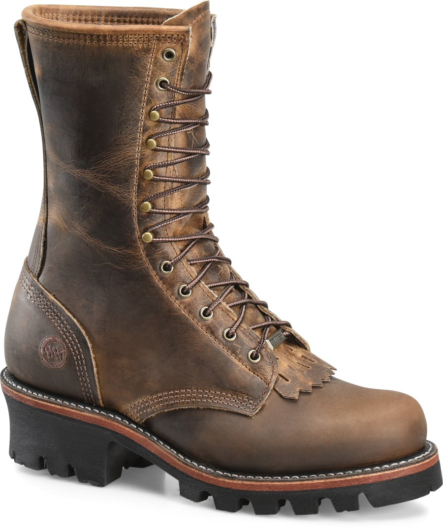 83f1040a8c0 Double H Boot 10 Inch Brown Leather Logger - Final Sale in Medium ...