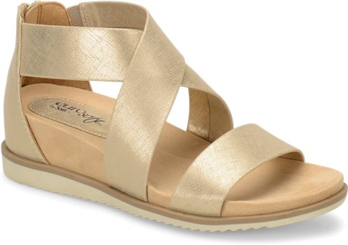bca18812b37 EuroSoft Landry in Gold - EuroSoft Womens Sandals on Shoeline.com
