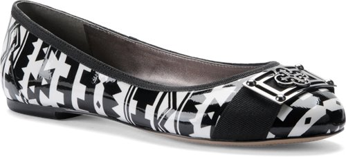 Black White Tribal Print Patent Isola Britt II