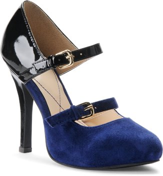 Blue Suede Black Patent Isola Irisa